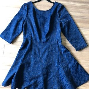 Forever 21 blue geo pattern short dress size L